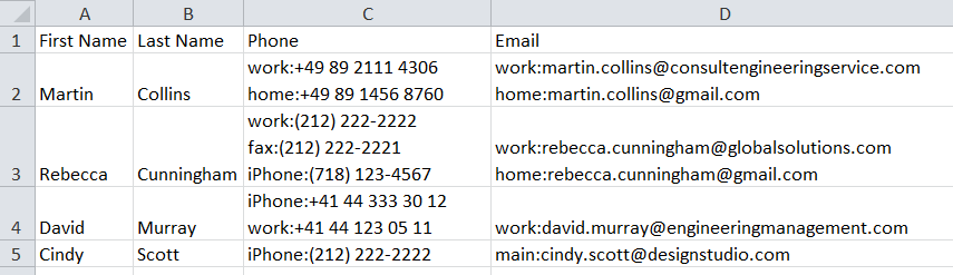 Import your BCB contacts with labels to Excel