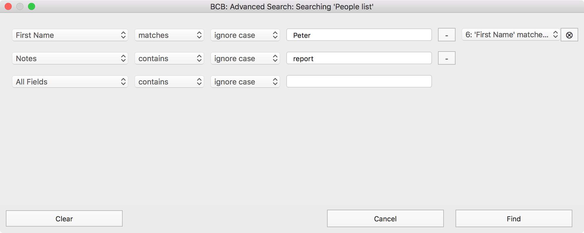 Advanced Search - creating search queries